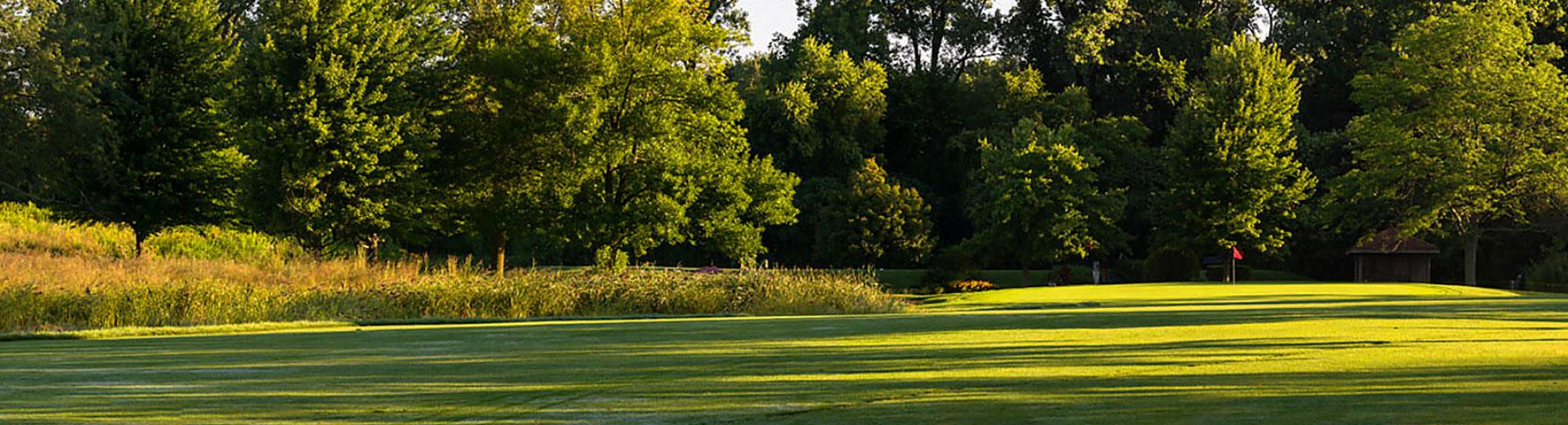 View of the fairway at Deerpath Golf Course